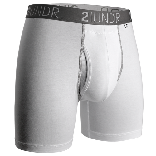 "2UNDR Swing Shift 6"" Boxer Brief -  White"