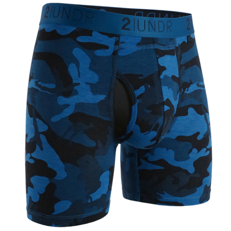 "2UNDR Swing Shift 6"" Boxer Brief -  Black"