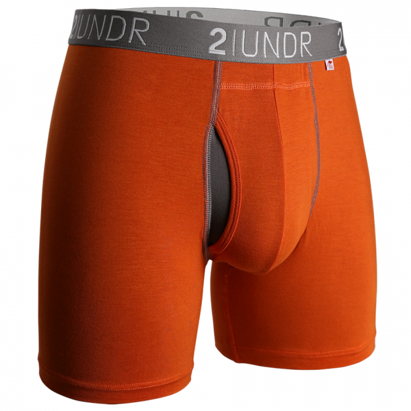"2UNDR Swing Shift 6"" Boxer Brief - Orange"