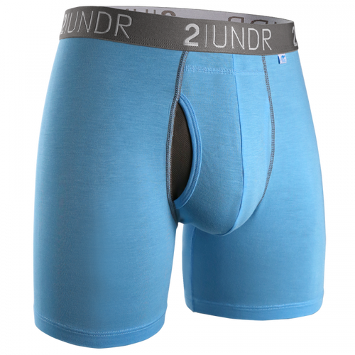 "2UNDR Swing Shift 6"" Boxer Brief - Light Blue"