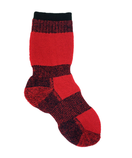 Red merino wool thermal sock
