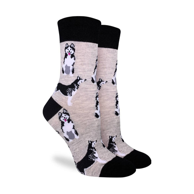 "Unisex ""Husky"" Cotton Crew Socks by Good Luck Sock"
