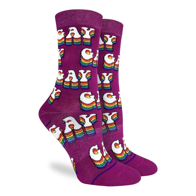 "Unisex ""Gay Pride"" Cotton Crew Socks by Good Luck Sock"