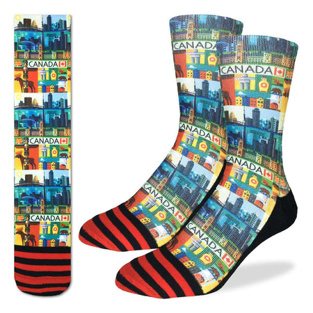 "Men's ""Hockey, Blue & White"" Crew Socks by Good Luck Sock"