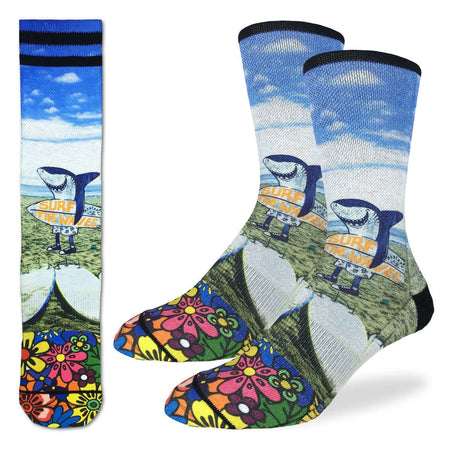 Women's The Great Wave off Kanagawa Crew Socks by Good Luck Sock