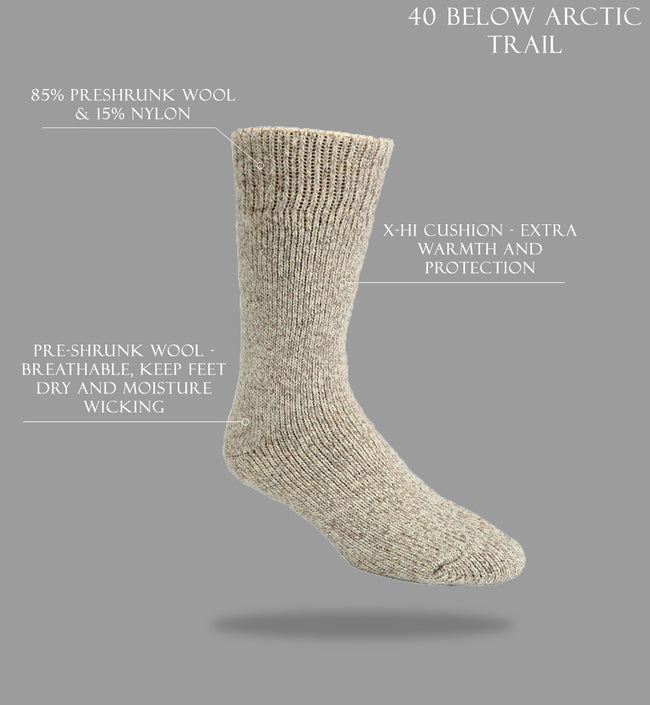 "J.B. Field's Icelandic ""40 Below Arctic Trail"" Wool Thermal Sock"