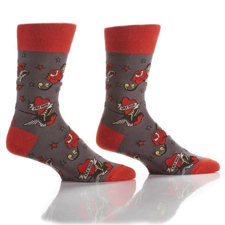 Men's Hot Dog Cotton Dress Crew Socks by YO Sox
