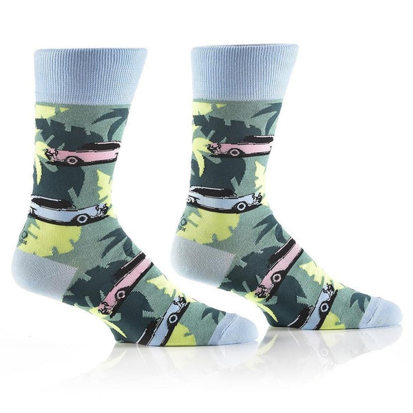 "Men's ""Cruisin'"" Cotton Dress Crew Socks by YO Sox"