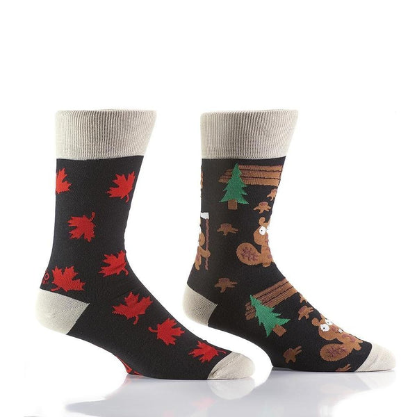 "Men's ""How Canadian"" Cotton Dress Crew Socks by YO Sox"