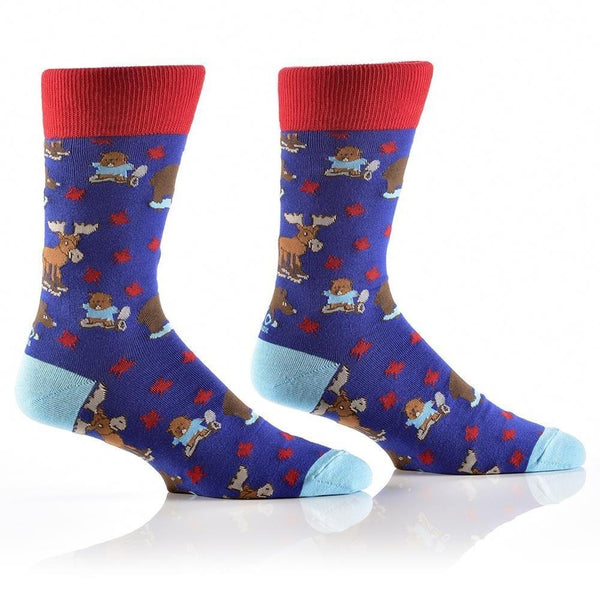 "Men's ""Canadiana"" Dress Crew Socks by YO Sox"