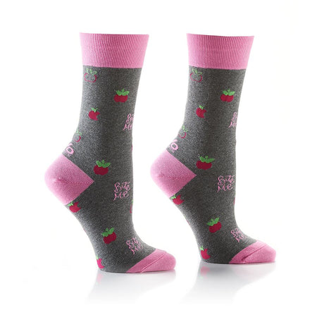 Women's Camera Cotton Dress Crew Socks by YO Sox