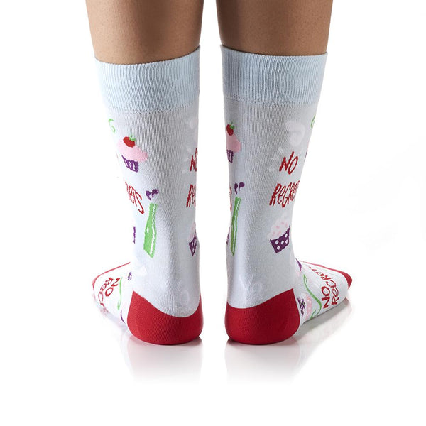 "Women's ""No Regrets"" Cotton Dress Crew Socks by YO Sox"