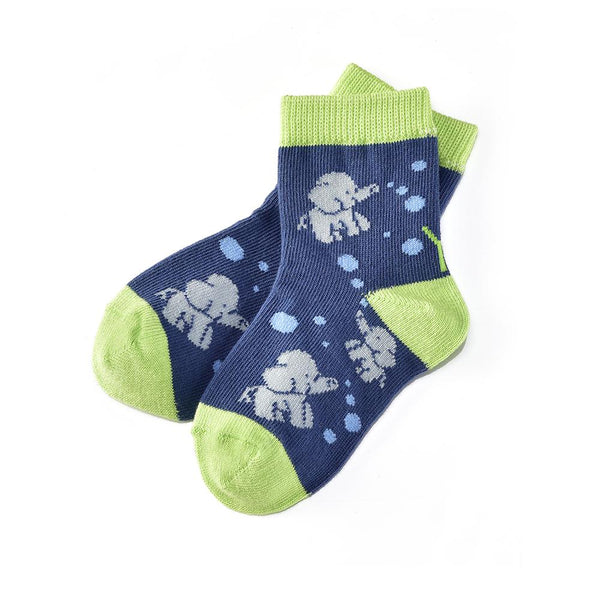 "Kids ""Elephant Fun""Crew Socks by Yo Sox"