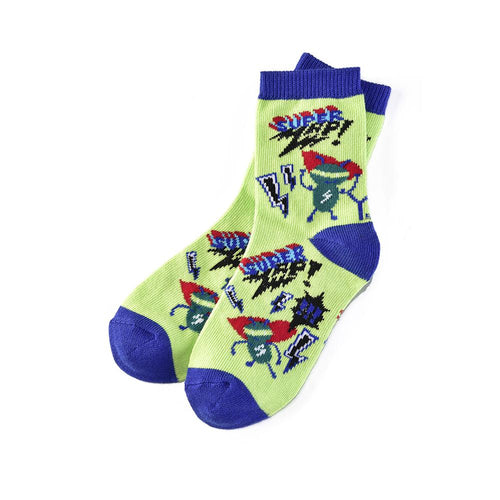 "Kids ""Super Electric"" Crew Socks by Yo Sox"