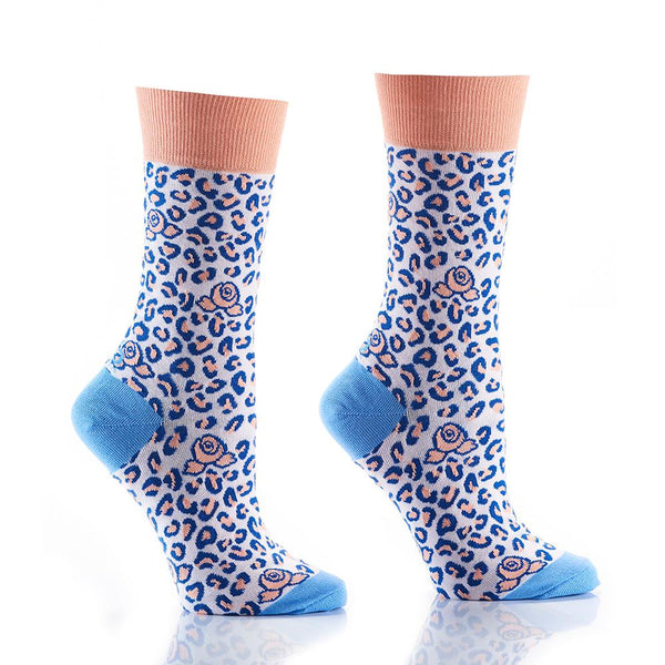 "Women's ""Wild One"" Cotton Dress Crew Socks by YO Sox"