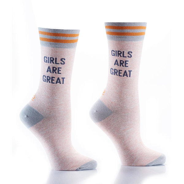 "Women's ""Girls R Great"" Cotton Dress Crew Socks by YO Sox"
