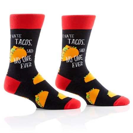 "Men's ""Toasted Daily"" Cotton Dress Crew Socks by YO Sox"