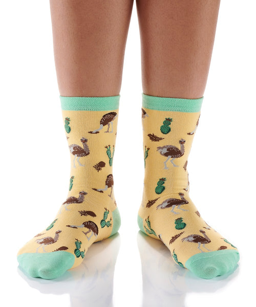 "Women's ""Ostrich"" Cotton Dress Crew Socks by YO Sox"