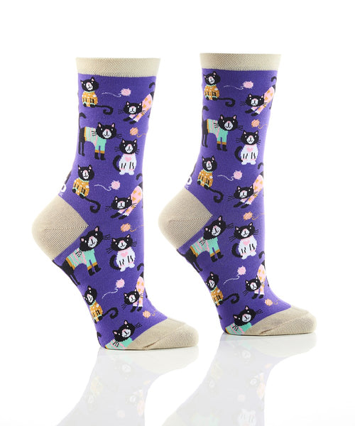 "Women's ""Sweater Weather"" Cotton Dress Crew Socks by YO Sox"