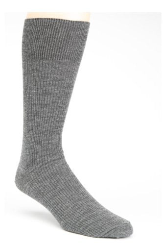 grey  wool dress sock