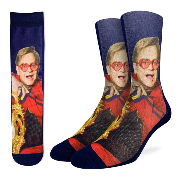 "Men's ""Elton John on Chair"" Crew Socks by Good Luck Sock"