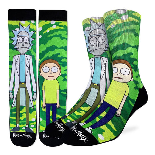 "Men's ""Rick and Morty"" Crew Socks by Good Luck Sock"