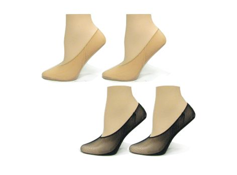 Point Zero Women's Sheer Hidden Liner Socks (2 Pairs)