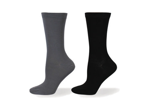 Wellness Women's Non-Elastic Plain Bamboo Casual/Dress Socks