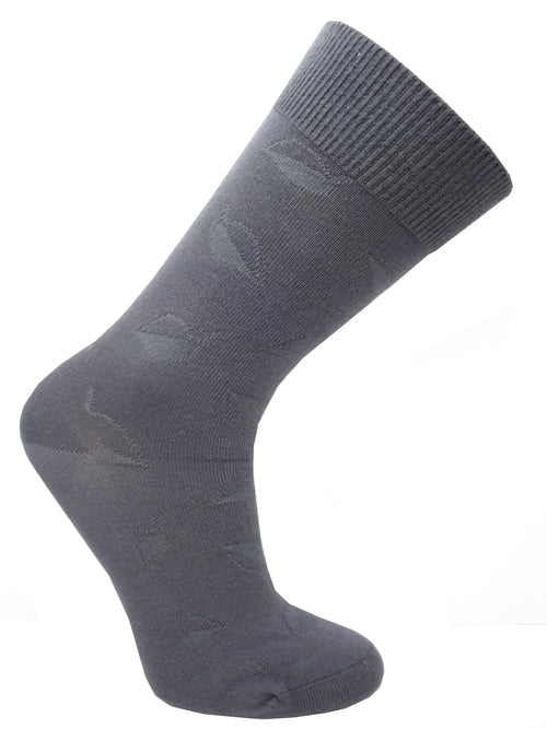 "Wellness Women's Diabetic ""Leaves"" Bamboo Non-Elastic Casual/Dress Socks"