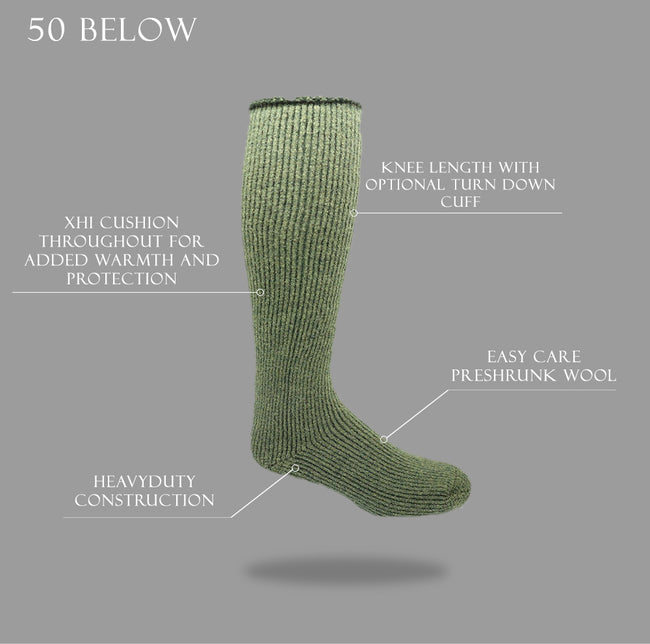 "J.B. Field's Icelandic ""50 Below Ice"" Wool Sock"