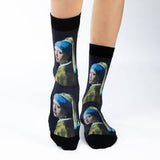 girl with a pearl earring socks
