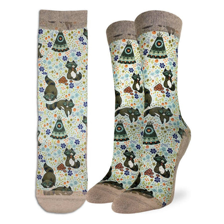 Women's I'm Fine Cat Crew Socks by Good Luck Sock