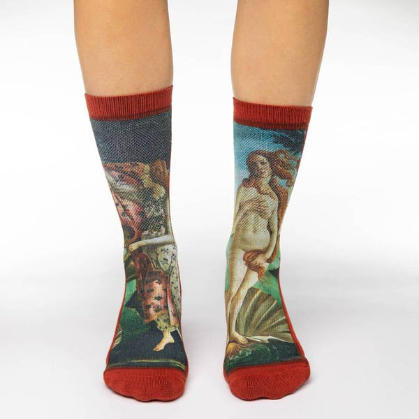 "Women's ""The Birth of Venus"" Crew Socks by Good Luck Sock"