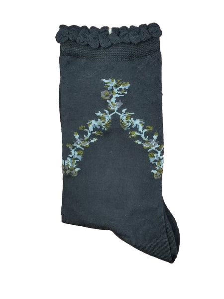 "Vagden Women's ""Flowers"" Bamboo Casual Socks"