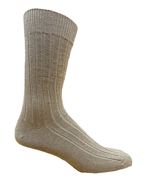 65% Cotton Casual Ribbed Dress Sock- CLEARANCE 6 PK