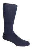 Blue High percent cotton dress socks
