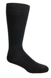 Black High percent cotton dress socks