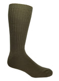 Green High percent cotton dress socks