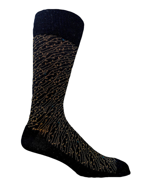 85% Cotton Casual Vine Dress Sock- CLEARANCE 6 PK