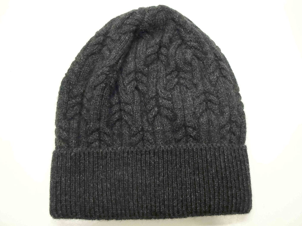 601ad010 Merino Wool Blend Cable Knit Winter Hat - Made in Italy