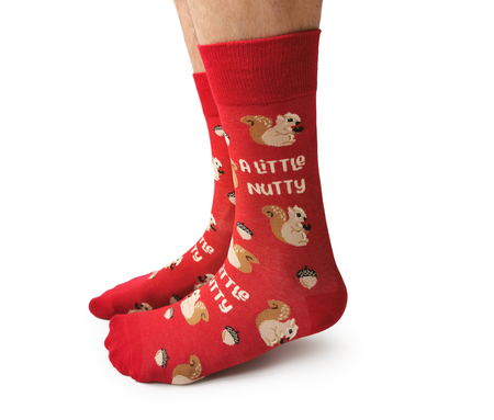 "Women's ""Merry Pug Mas"" Cotton Crew Socks by Uptown Sox"