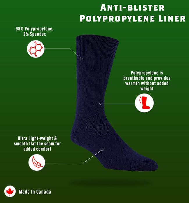J.B. Field's Anti-blister Polypropylene Liner Sock