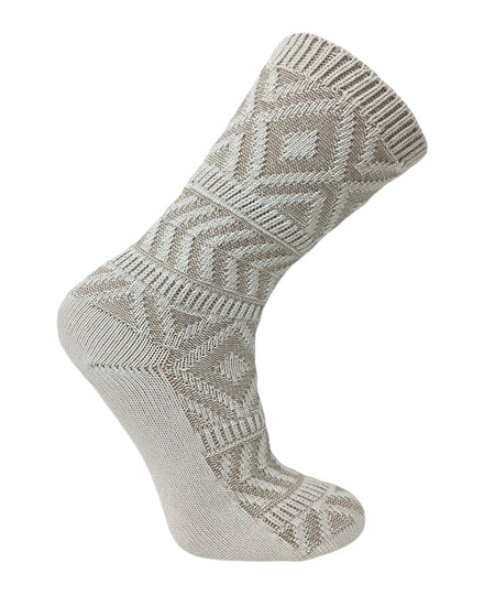 Vagden Men's Bamboo Mid Length Stripe Socks