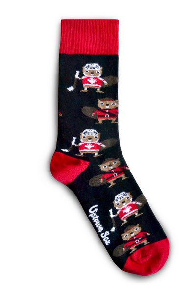Canadian beaver socks