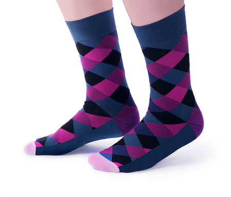 "Women's ""Unicon Utopia "" Cotton Crew Socks by Uptown Sox"