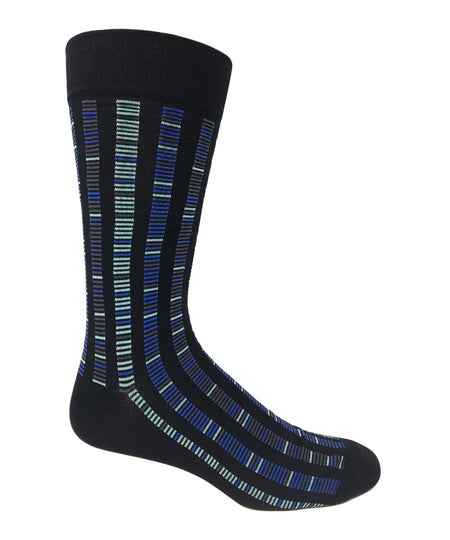 Vagden Men's Geometric Purple Cotton Dress Sock