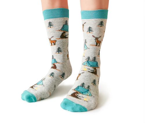 Women's Camping Cotton Crew Socks by Uptown Sox