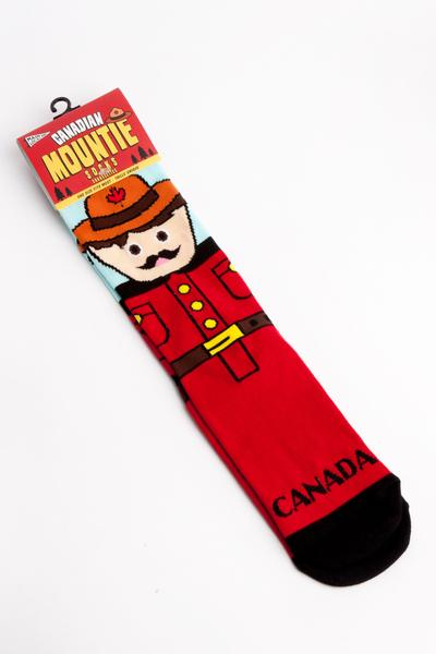 Canadian Mountie Cotton Crew Socks by Main & Local