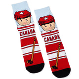 Canadian Hockey Player Cotton Crew Socks by Main & Local