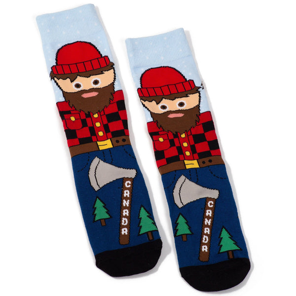 Canadian Lumberjack Cotton Crew Socks by Main & Local